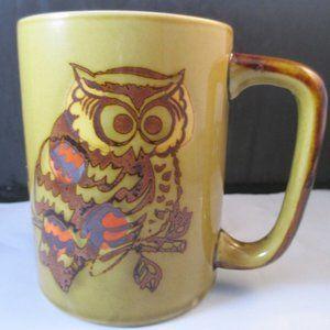 Vintage Coffee Mug MCM Owl 8oz Office cup Retro